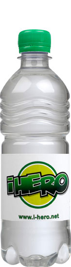 Promotional bottled water from Celtic Vale